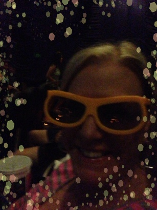 mom in her 3 D glasses